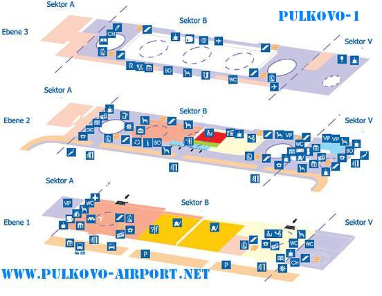 Схема аэропорта Пулково-1